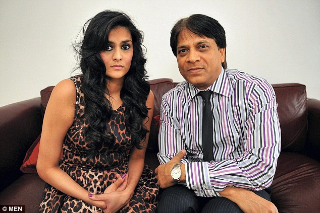 Distressed: Devyani Patel, 21, said her father is no longer the 'happy' and 'confident' man he was before the savage attack