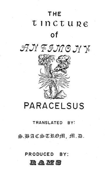 """Compendium of Alchemical Tracts"", Volume 1,"