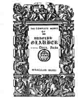 """Miraculum Mundi"", from the Complete Works of Glauber."