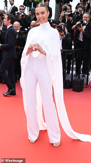 Wow-factor! Adriana Lima, Izabel Goulart and Josephine Skriver (pictured) commanded attention once again as they attended the premiere of Oh Mercy! in the French city on Wednesday afternoon