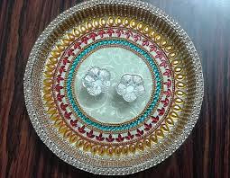 Puja thali decoration for competition