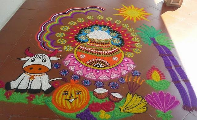 Rangoli Kolam Designs Images for Pongal