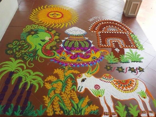Rangoli Kolam Designs Images for Pongal