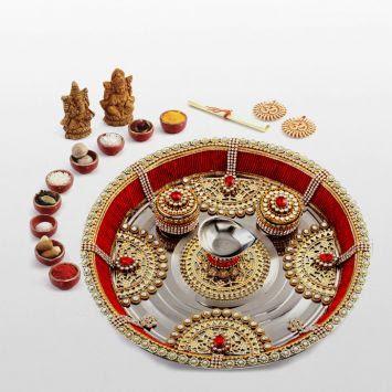 aarti thali decoration ideas navratri
