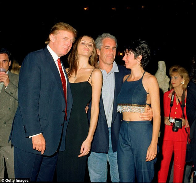 Corcoran and his editor both said they were not allowed to publish the line in the story. The writer also said that future convicted sex offender Jeffrey Epstein and Ghislaine Maxwell were on Trump's jet when they flew down to his golf club in 2000 (file above in 2000)