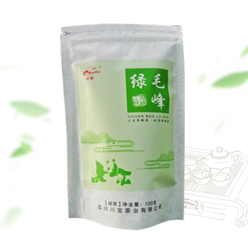 川宝绿毛峰100g 高山云雾优质鲜嫩芽绿茶系列