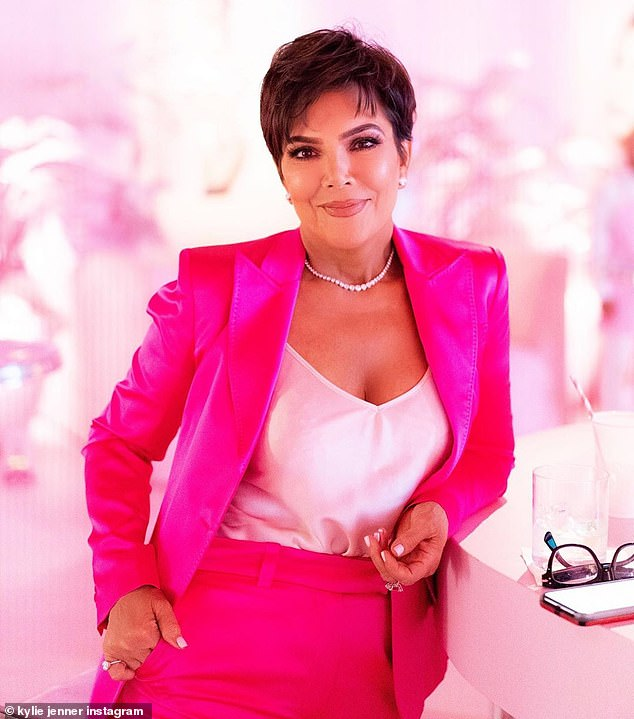 Momager: Another gorgeous photo showed her mother Kris Jenner in a hot pink suit