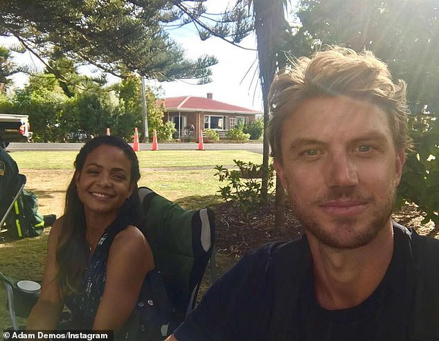 'Already miss working with my mate':Career-wise, Milian traveled to New Zealand in February to shoot her role as city girl Gabriela in the upcoming Netflix movie Falling Inn Love with Australian actor Adam Demos (R) playing her Kiwi contractor love interest