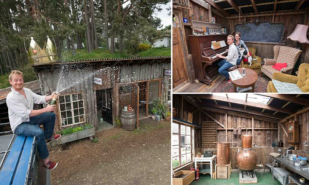 Wooden gin distillery created from run down hen house wins Shed of the Year