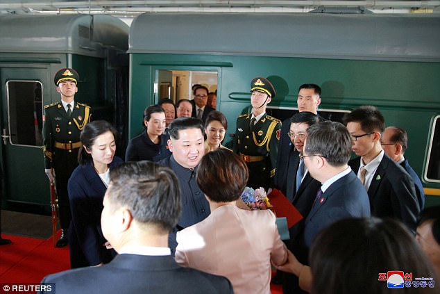 North Korean leader Kim Jong Un was accompanied by his wife Ri Sol Ju for the unofficial visit