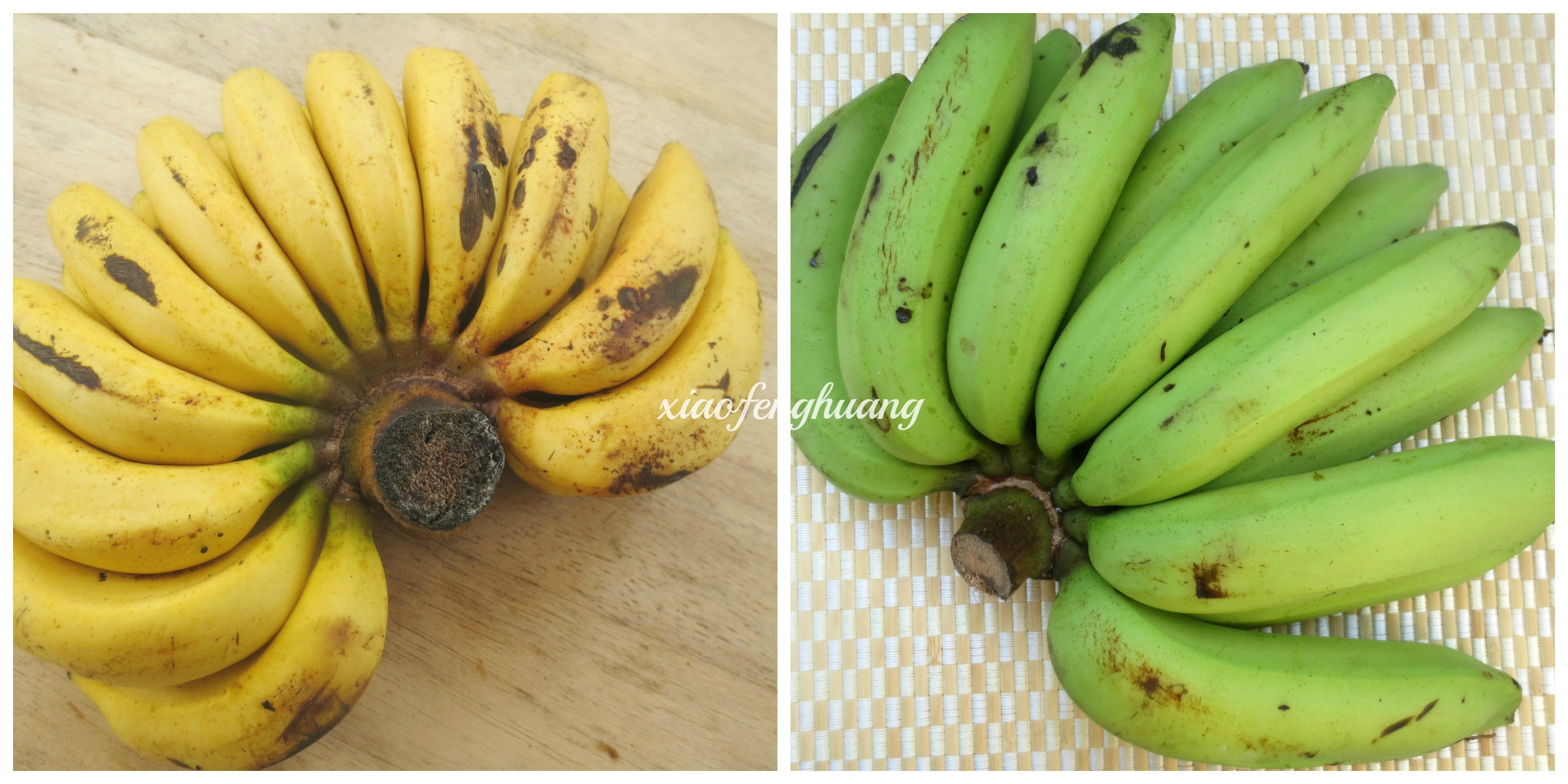 Left - Pisang Jari Right - Pisang Ambon