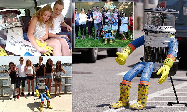 Friendly hitchhiking robot is beaten to a pulp in Philly two weeks after entering country