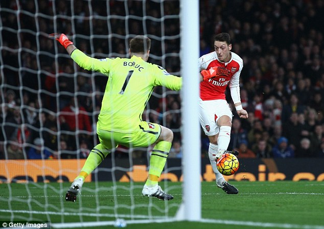 Ozil was an 'overwhelming winner' in Arsenal's Player of the Season award which was voted by the fans
