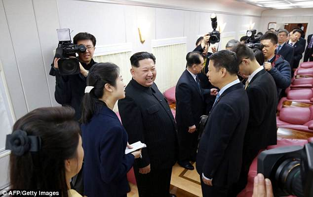 It is not clear whether the North Korean leader treated his distinguished Chinese guest to some of the luxurious food and drink reputed to be on the train