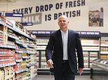 Exit: Tesco boss Dave Lewis (above) said he will step down from the retailer next summer