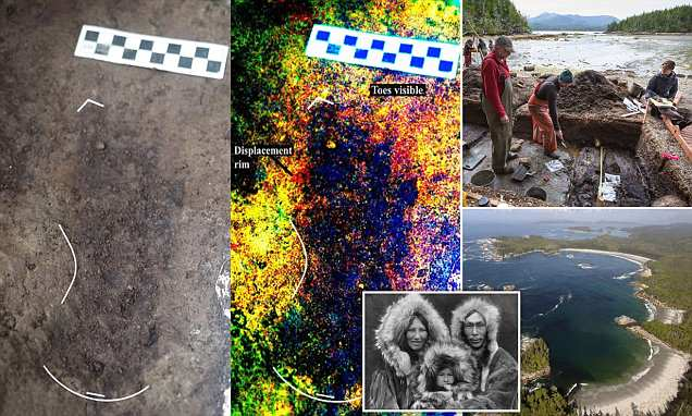 13,000-year-old human footprints found on the west coast of Canada
