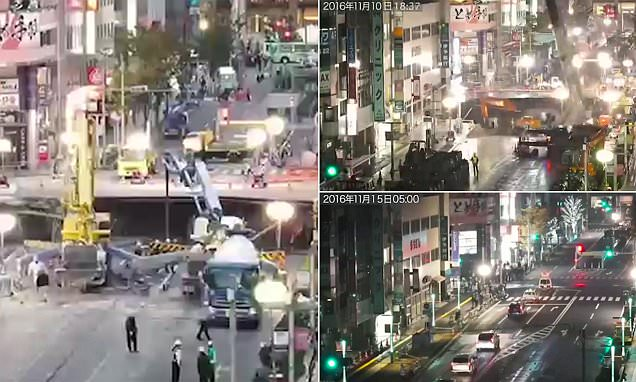 Timelapse video shows how Japan managed to fix mega sinkhole in a WEEK