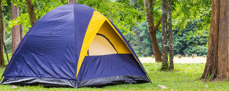 Tent on campsite. Find affordable camping near your home.