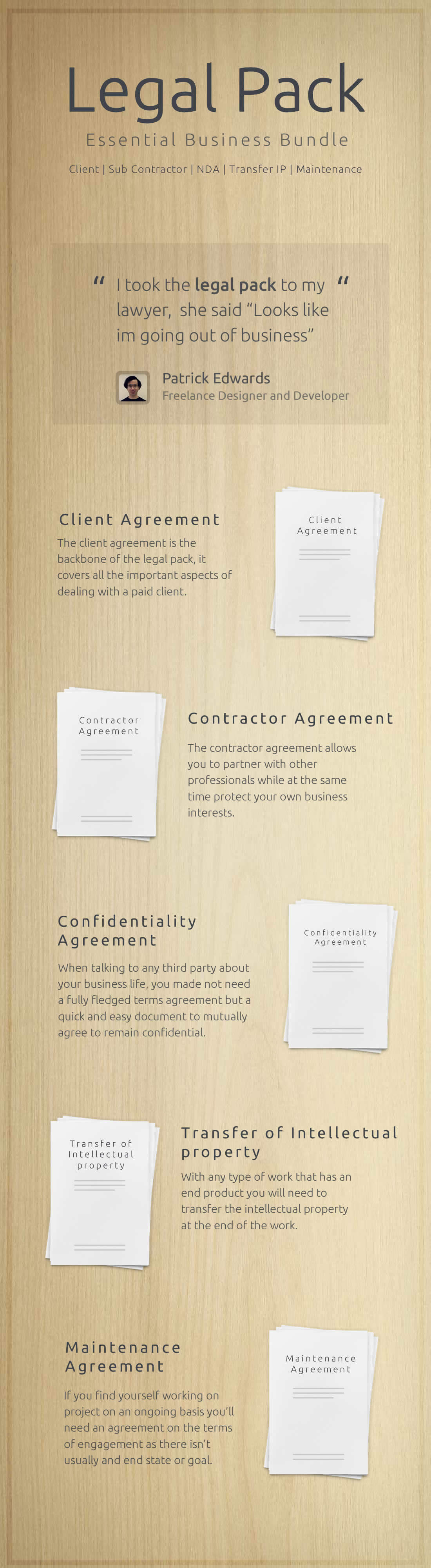 An Essential Pack Of 5 Small Business Contracts