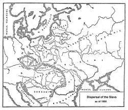 Dispersal of Slavs as of 1900 (1910 map).jpg