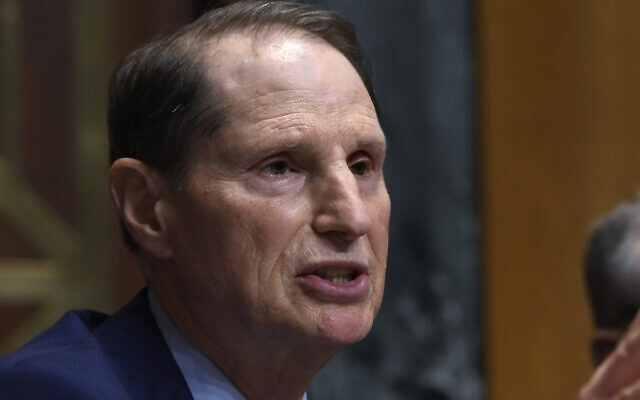 In this April 9, 2019, photo, US Senate Finance Committee ranking member Senator Ron Wyden, an Oregon Democrat, speaks during a hearing on Capitol Hill in Washington. (AP Photo/Susan Walsh)