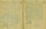 A ledger From Bergen-Belsen's Rabbinical Court for 'chained' spouses in wake of the Holocaust (Kedem Auction House)