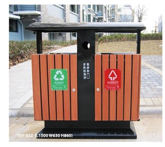 木塑垃圾桶YSY-022