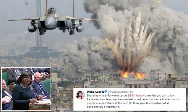 Diane Abbott posts fake image of Israeli fighter jet bombing Iran
