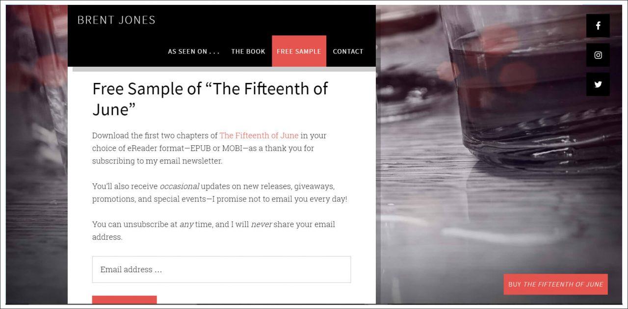 11 Author Websites That Get It Right - Brent Jones