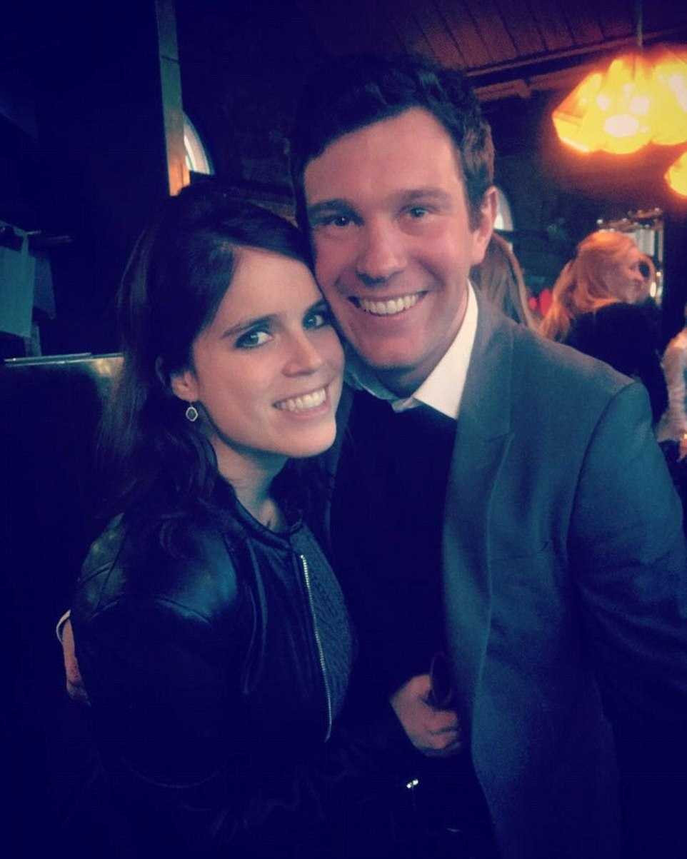 Buckingham Palace this morning announced that Princess Eugenie, 27, and her boyfriend Jack Brooksbank, 31, are engaged, sharing a photo of the happy couple on Twitter