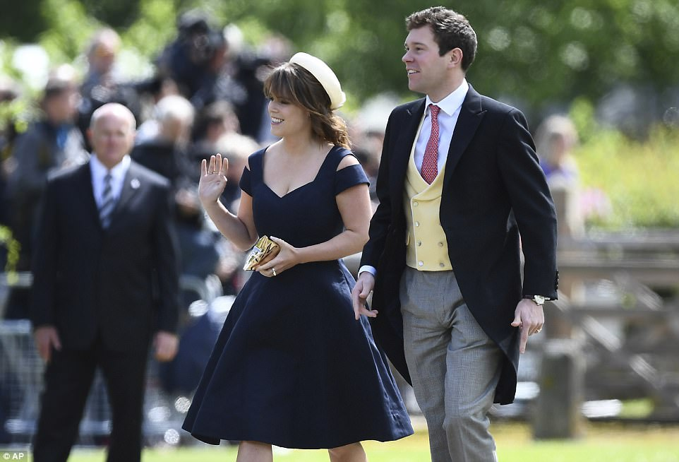 The couple were among the high profile guests at Pippa Middleton's society wedding last summer