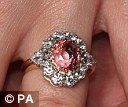 Eugenie's ring is similar to the engagement ring her mother once wore