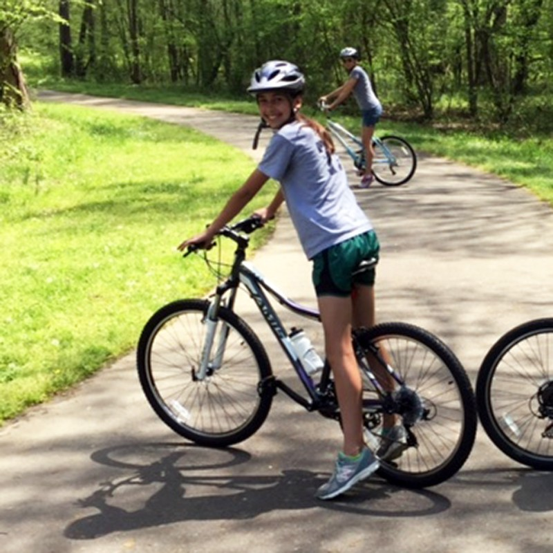 Two happy Jamis customers enjoying the trails!