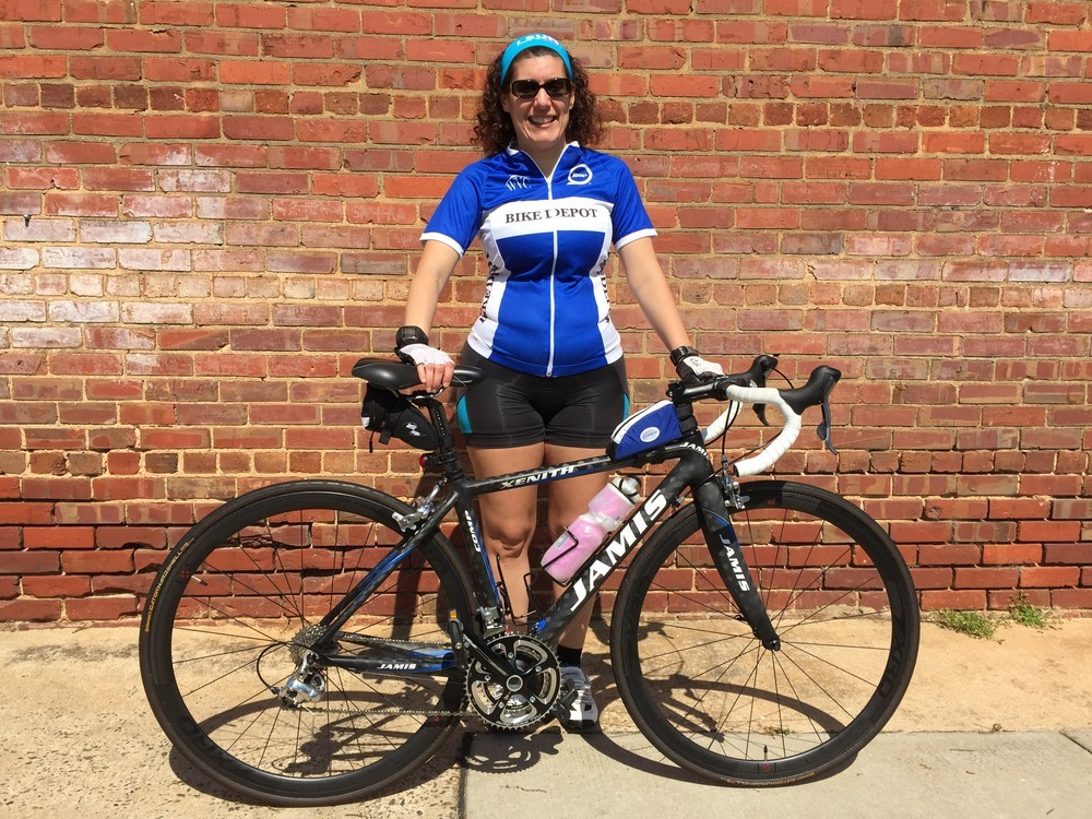 Carol made a further upgrade to XRD carbon clinchers!! Looking awesome with her matching deep azure Bike Depot jersey. Her next upgrade? Some carbon aero bars perhaps?