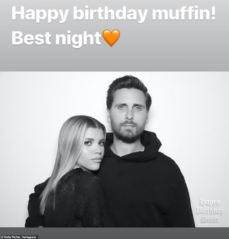 Smitten: Scott is in a relationship with Sofia Richie, 20, who was also at the party and gave her followers a look inside the bash