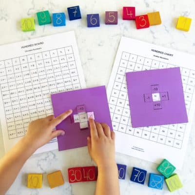100 chart - More than 10 ways to teach counting and math in English, Chinese, and Korean
