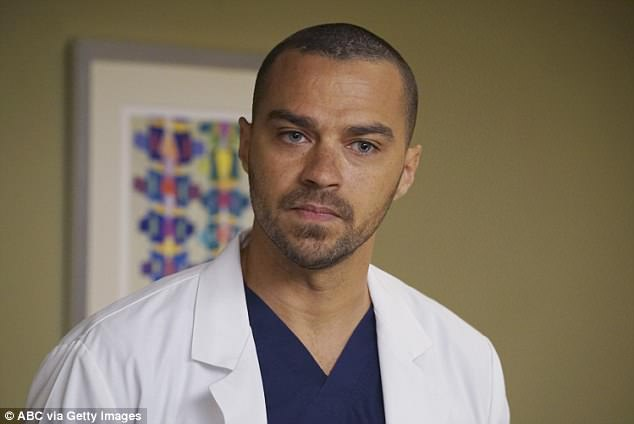 Williams stars as Dr Jackson Avery on Grey's Anatomy (above on the show).  The $50,629 a month sum is based on his monthly salary of $521,000, according to the court documents