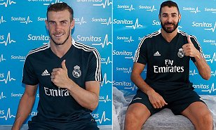 Real Madrid stars including Bale and Benzema undergo pre-season tests