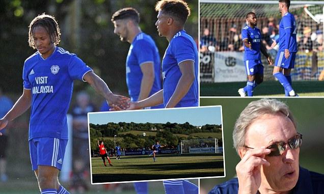 Tavistock 0-6 Cardiff City: Gary Madine nets twice as dominant Bluebirds ease to victory