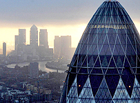 Sunrise at the City of London