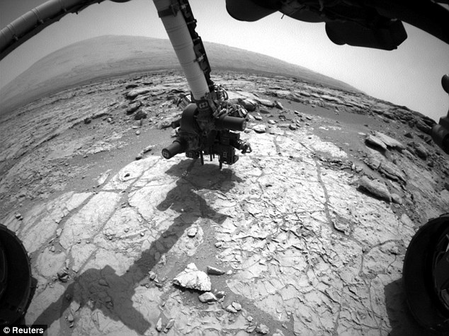 Samples: The rover comes equipped with a drill that it uses to dig up soil samples and analyze them