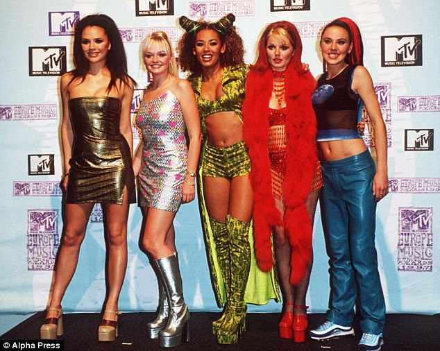 Reunited: She even claimed the newly-reformed Spice Girls (pictured left to right,Victoria Beckham, Emma Bunton, Mel B,Geri Horner and Mel C) would perform, but Mel C says she was joking