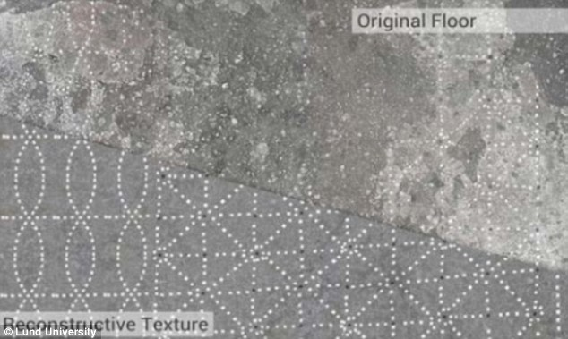 The researchers were able to uncover and reconstruct floor surfaces from AD 79, using the 3D technology. The reconstruction was possible by cloning the recurring geometric pattern