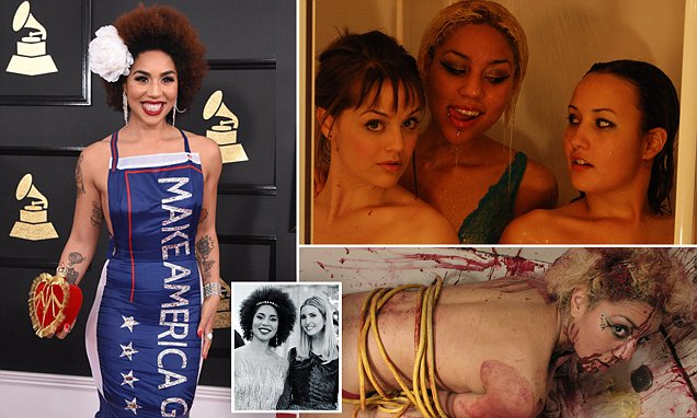 Trump's favorite singer Joy Villa is bondage loving model