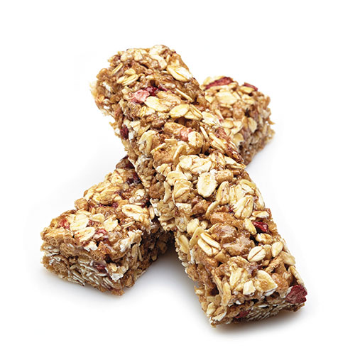 2 stacked granola bars