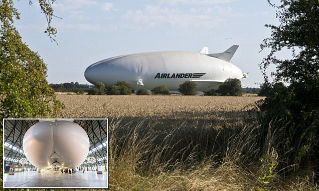 World's largest aircraft The Airlander 10, leaves its hangar for the first time
