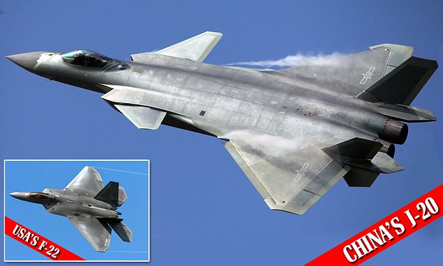Chinese J-20 stealth jet based on US military plans 'stolen' by hackers makes debut