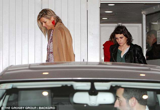 Queen Maxima and Inés are pictured as the Dutch royal made  a trip to Argentina after their father was hospitalised last year