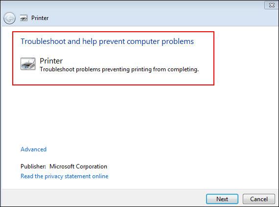Fix Printing Problems