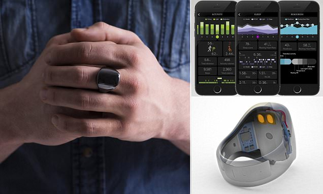 Oura ring monitors heart rate and movement to suggest lifestyle changes